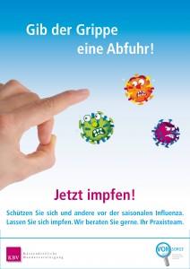 Plakat Grippeschutzimpfung